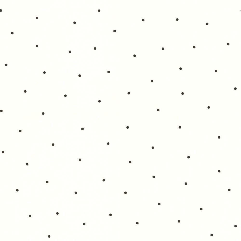 Tienda online telas papel papel pintado lunares mia negros for Papel pintado de lunares
