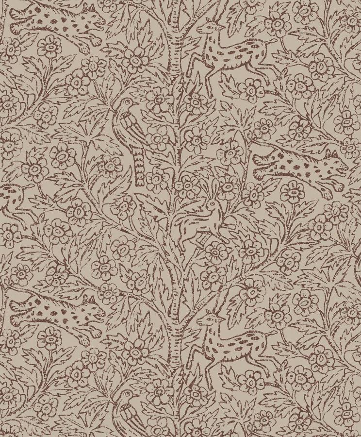 Tienda online telas papel papel pintado eden marr n for Papel pintado color marron