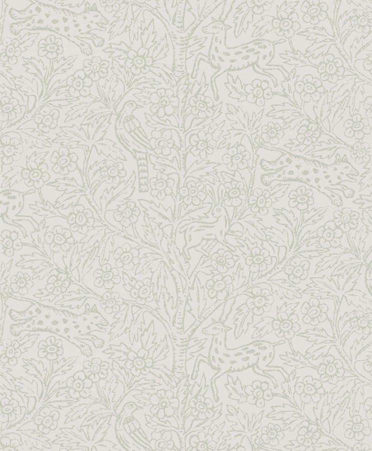 Tienda online telas papel papel pintado eden verde claro for Papel pintado verde