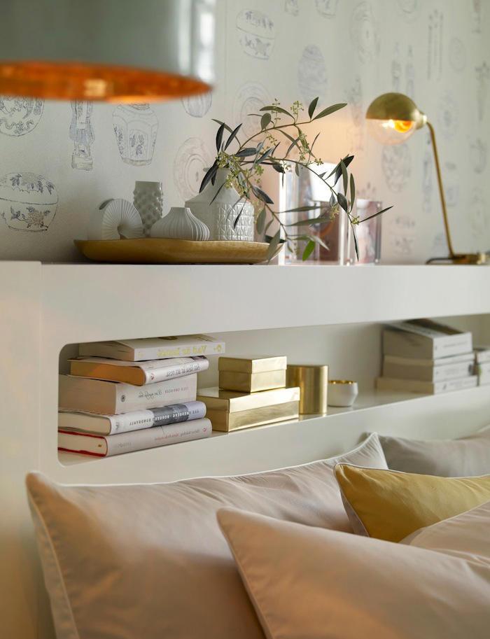Tienda online telas papel un dormitorio con el papel - Dormitorios decorados con papel pintado ...