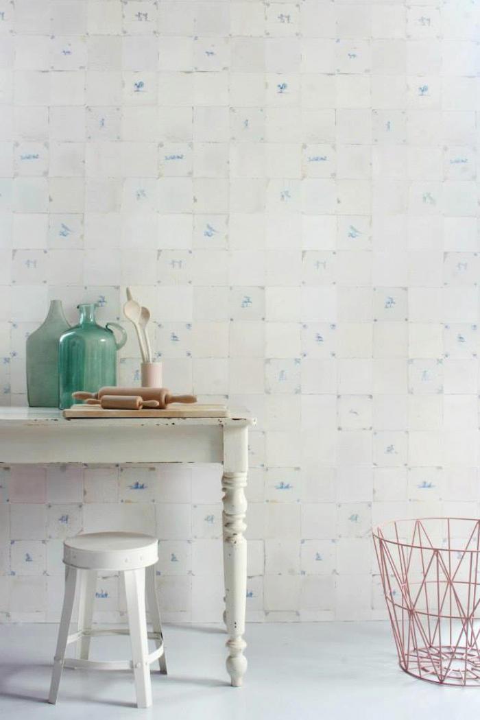 Tienda online telas papel el papel pintado tiles es - Papel pintado para azulejos ...