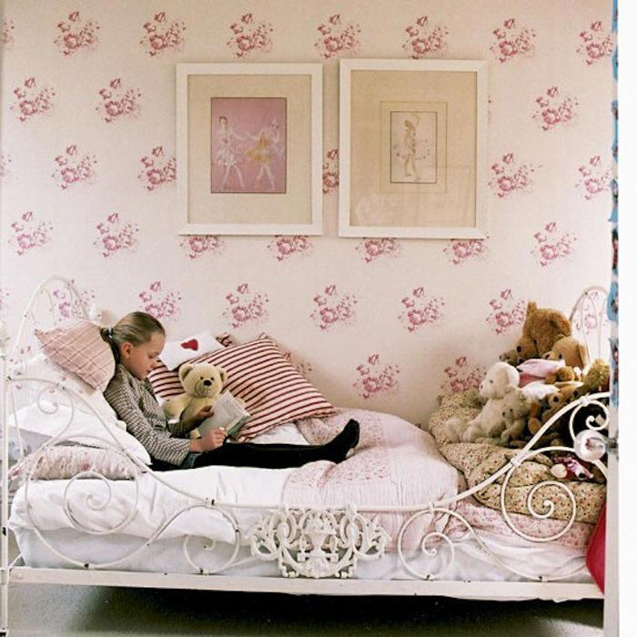 Tienda Online Telas Papel Papeles Pintados Infantiles De Color Rosa