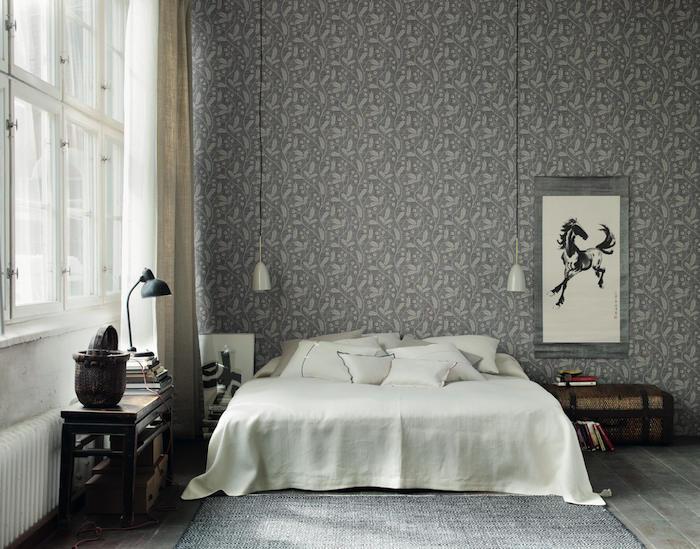Tienda online telas papel la coleccion gotheborg de for Dormitorios pintados en gris