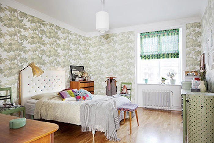 Tienda online telas papel decorar con verde un papel - Dormitorio verde ...