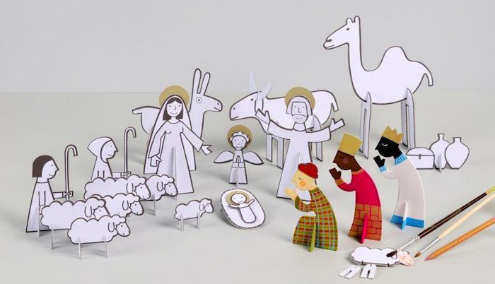 Tienda online telas papel un belen de papel - Figuritas para el belen ...