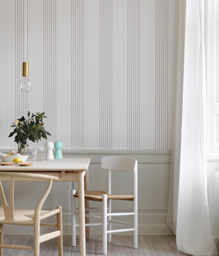 Tienda online telas papel papeles pintados a rayas de - Salones con papel pintado ...
