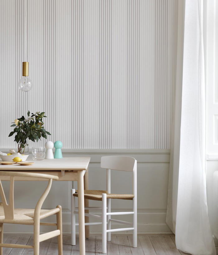 Tienda online telas papel papeles pintados a rayas de for Papel pintado pared salon