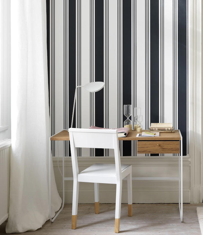 Tienda online telas papel papeles pintados a rayas de for Papel pintado de rayas