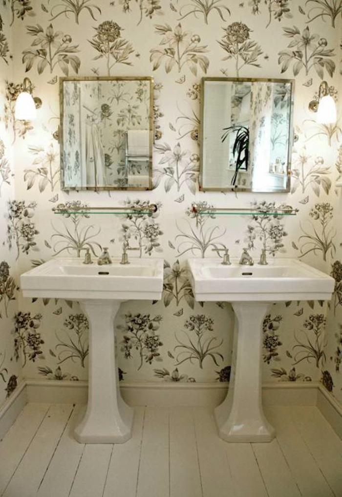 Imagenes De Baño Frio:Nos encantan las cocinas y los baños empapelados con papel pintado