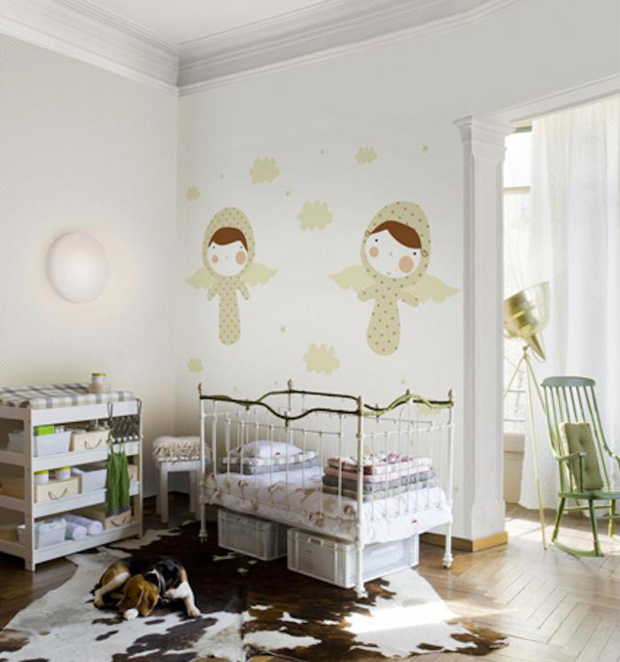 Tienda online telas papel nos encantan los murales de for Murales habitacion bebe