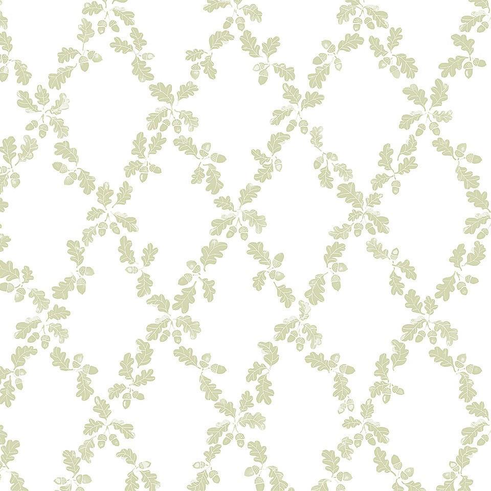 Tienda online telas papel papel pintado trellis annika - Papel pintado verde ...