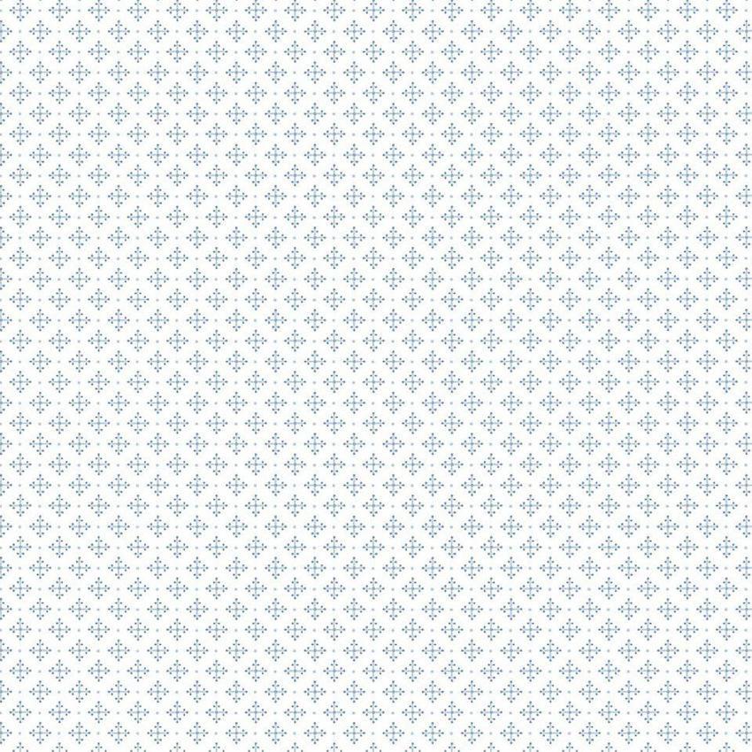 Tienda online telas papel papel pintado crucecitas for Papel pintado azul