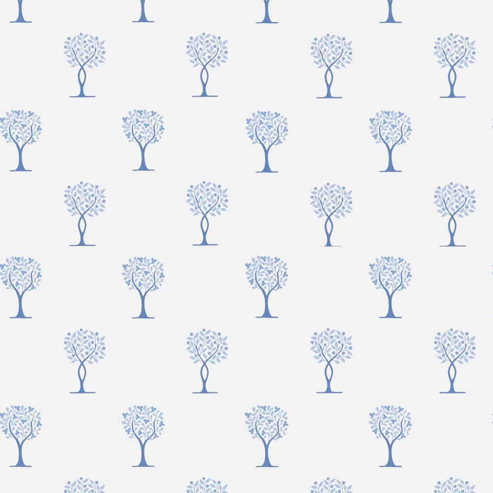 Tienda online telas papel papel pintado arbolitos for Papel pintado azul