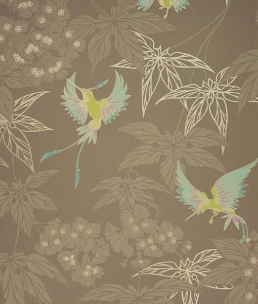 Tienda online telas papel papel pintado grove garden for Papel pintado marron
