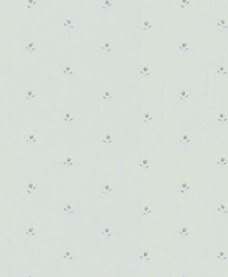 Tienda online telas papel papel pintado florecitas for Papel pintado color turquesa
