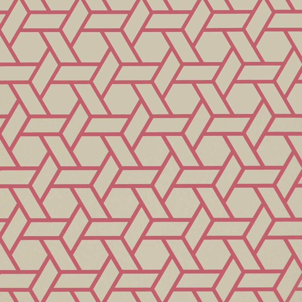tienda online telas papel papel pintado treillis rojo