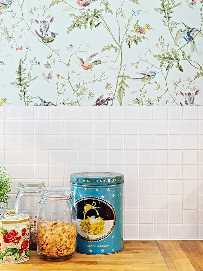 Papeles pintados para la cocina y el ba o telas papel - Papeles pintados on line ...