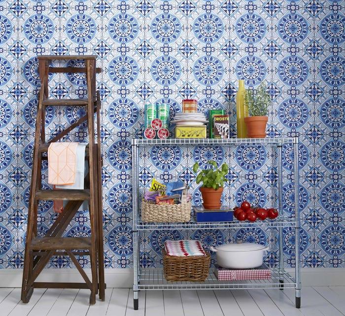 Papeles pintados para la cocina y el ba o telas papel - Papeles decorativos para cocinas ...