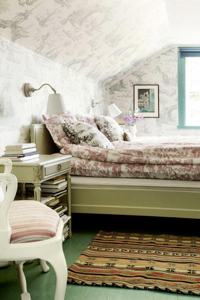 Decorar dormitorio con papel pintado a la hora de decorar - Papel pintado dormitorio principal ...