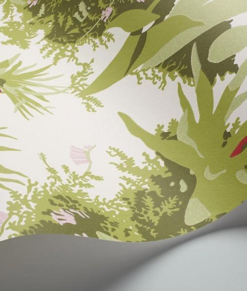 Papel pintado paisaje pehrson blanco telas papel - Papeles pintados paisajes ...