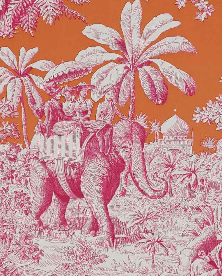 Tienda online telas papel papel pintado de toile de - Papel pintado toile de jouy ...