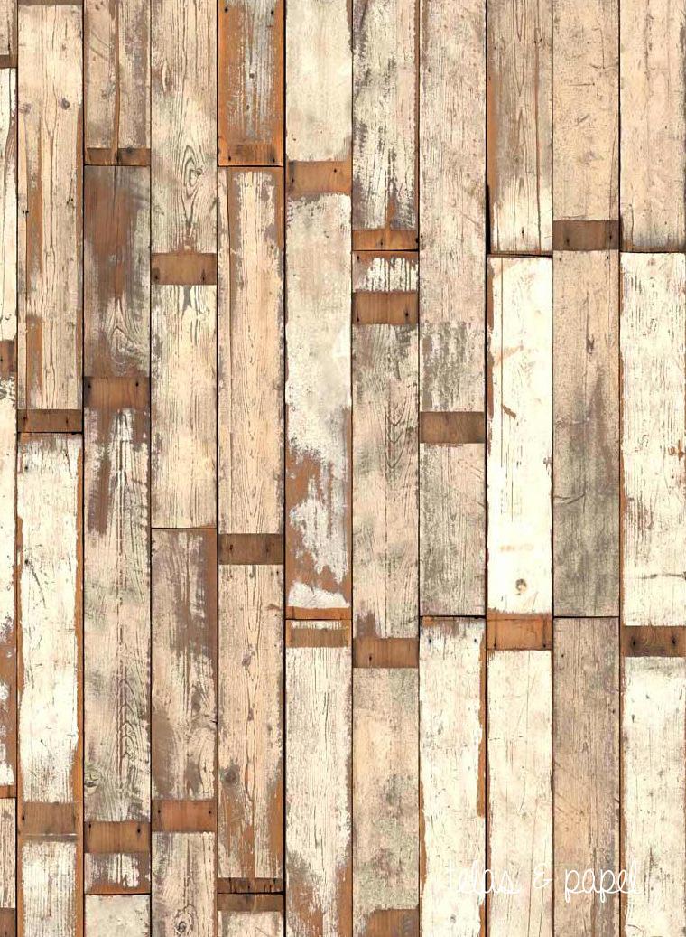 Tienda online telas papel papel pintado listones for Papel de pared madera