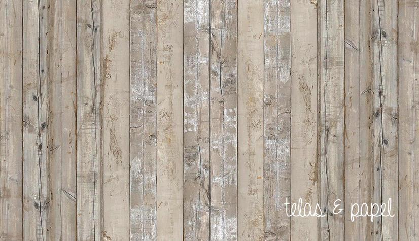 Tienda online telas papel papel pintado listones - Papel imitacion madera ...