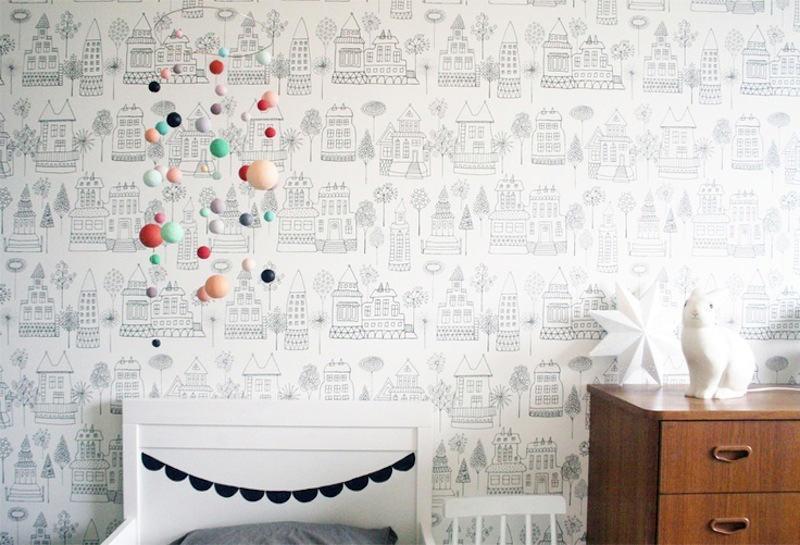 Tienda online telas papel decora la habitaci n de tu futuro beb con papel pintado - Papel pintado habitacion bebe ...