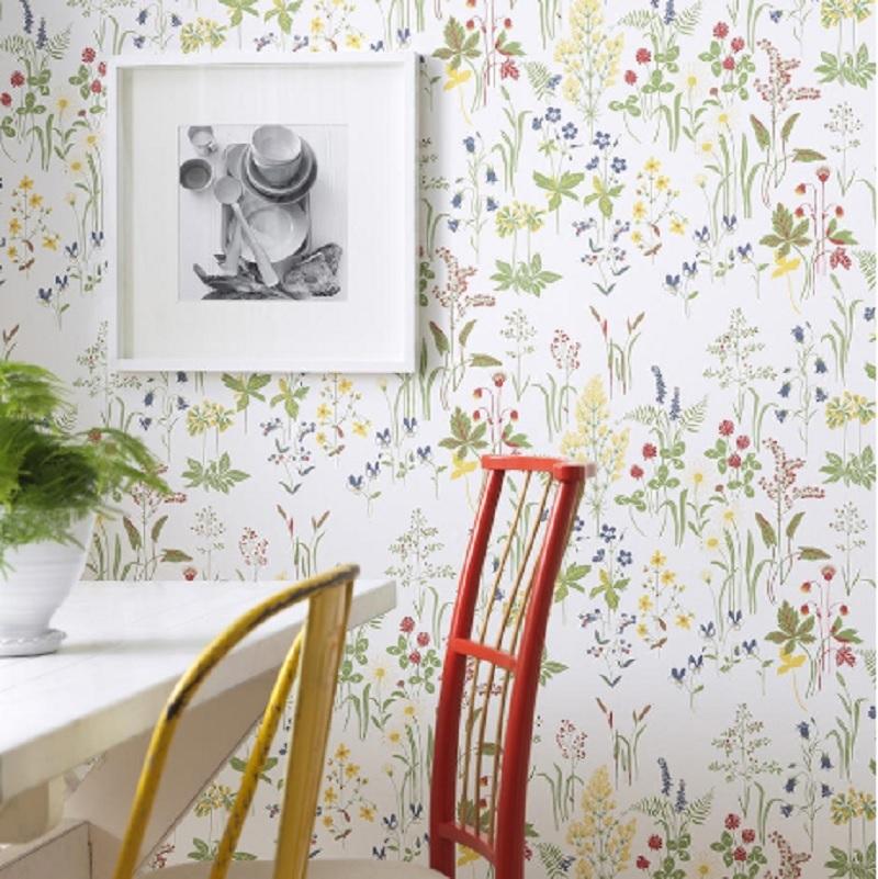 Tienda online telas papel florales los estampados de - Papel pintado pared ...