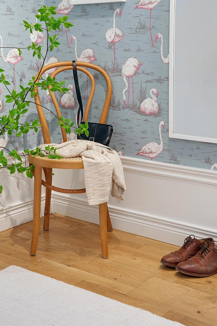 Tienda online telas papel un recibidor empapelado con - Papel pared entrada ...