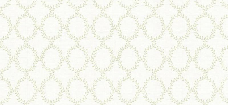 El minimalismo del papel pintado trellis de hojas