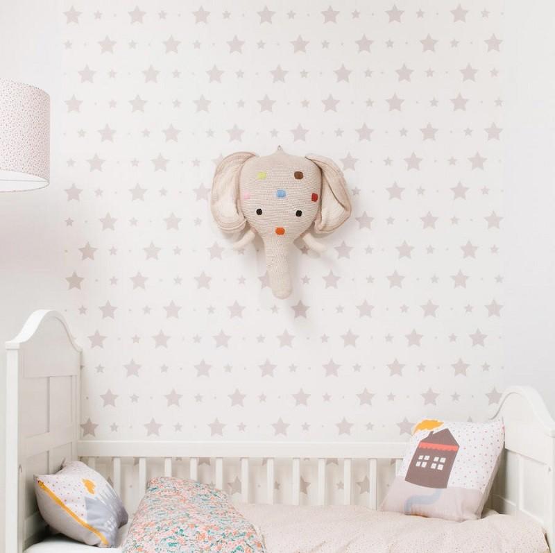 Tienda online telas papel ya lo sabes tu beb ser - Habitacion bebe papel pintado ...