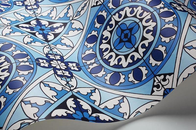 Tienda online telas papel renueva tu hogar d ndole un - Papel pintado mosaico ...