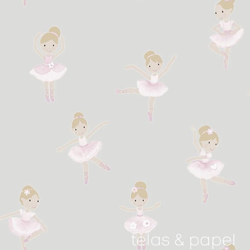 Tienda online telas papel decora la habitaci n de tu - Papel pintado habitacion infantil nina ...