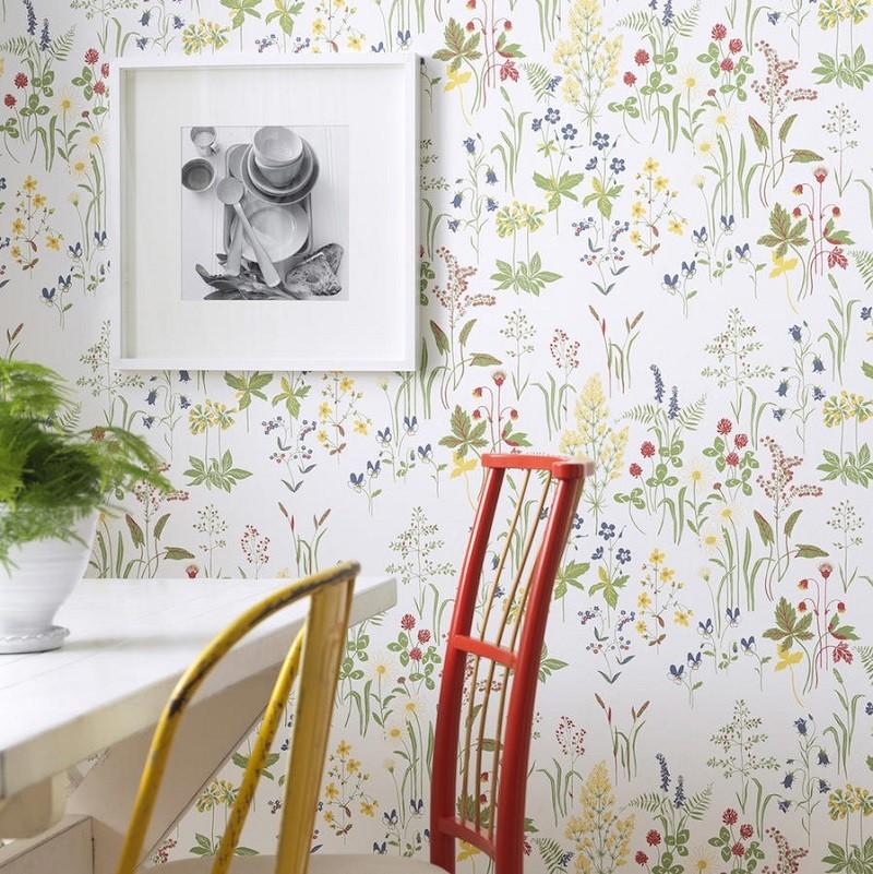 Tienda online telas papel dale frescura y naturalidad - Papel pared cocina ...