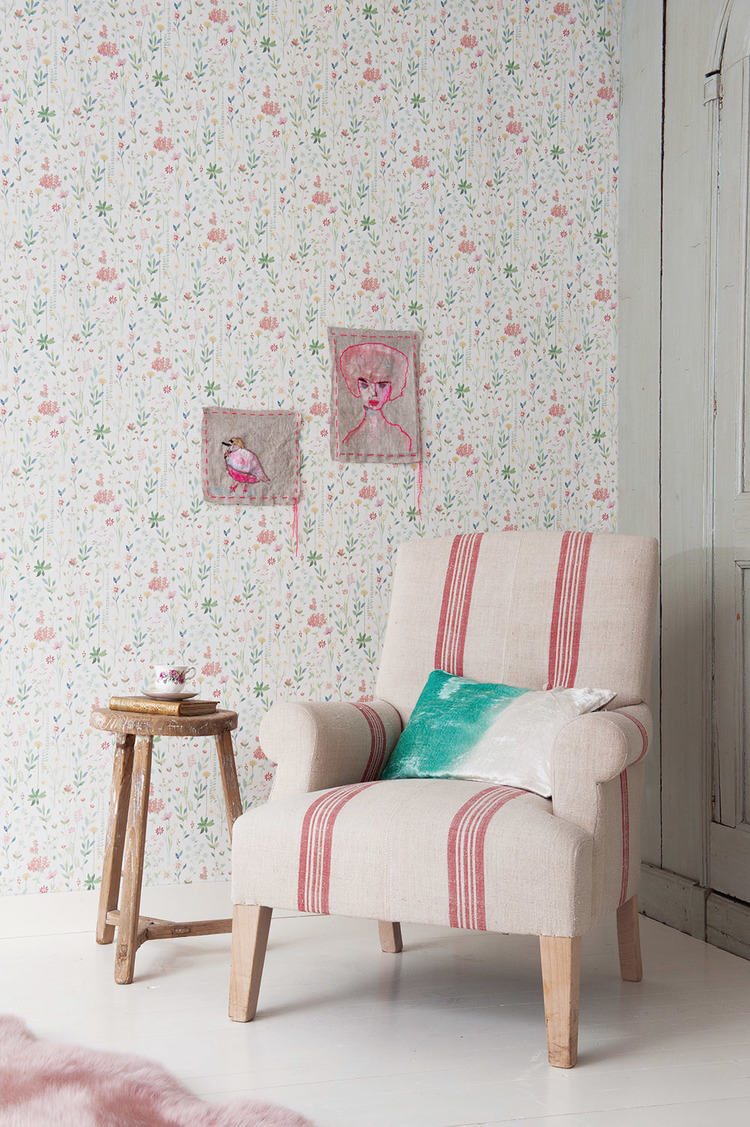 Tienda online telas papel papel pintado field of - Papel pintado decoracion ...