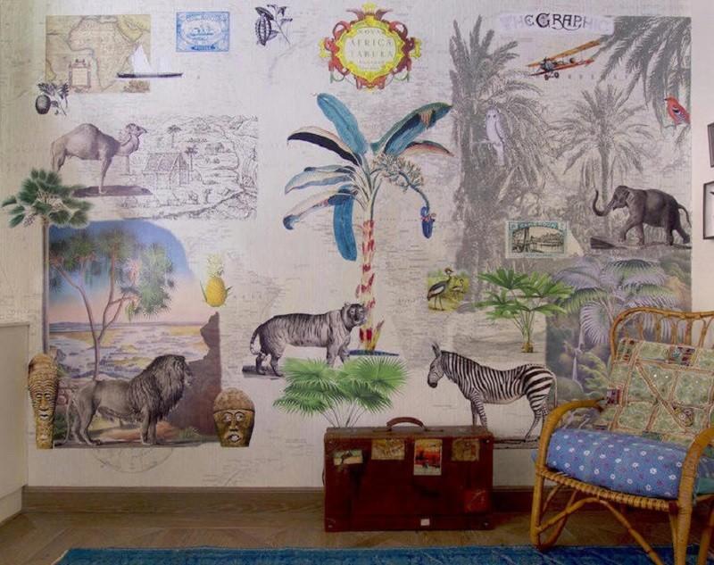 Tienda online telas papel consigue el mejor estilo safari con nuestros papeles pintados - Los mejores papeles pintados ...
