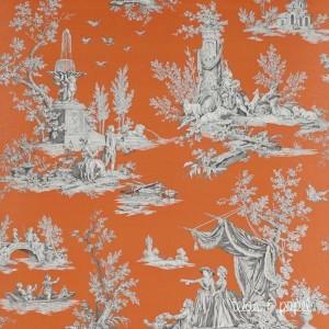 Elegante papel naranja, Jardin Luxemburg