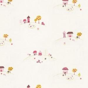 Original y divertido papel pintado para un cuarto infantil
