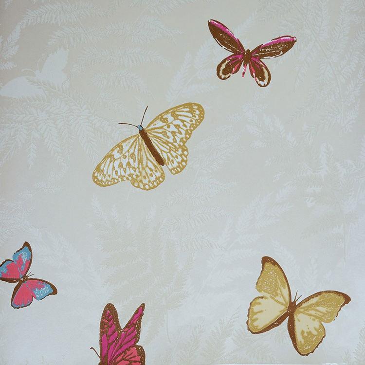 tienda online telas papel papel pintado mariposas en