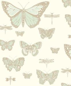 Papel insectos y mariposas