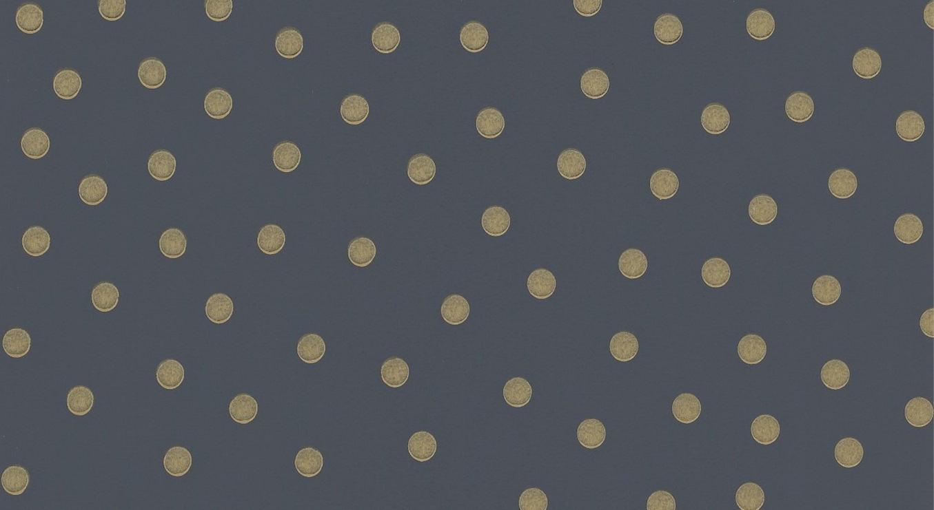 Tienda online telas papel papel pintado polka dot negro - Papel pared online ...