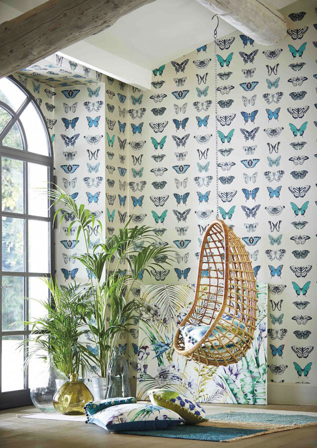 Tienda online telas papel cortinas con telas de mariposas - Tiendas de cortinas online ...