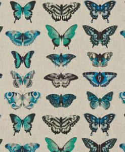 tela-de-mariposas-verde-esmeralda