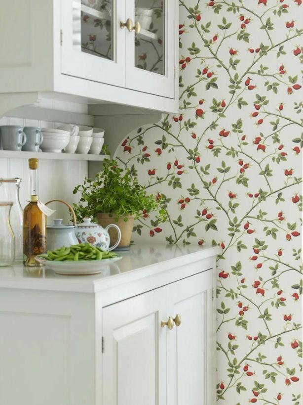 Tienda online telas papel dale un cambio a tu cocina - Papeles pintados de pared ...