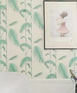Papel palmeras y hojas