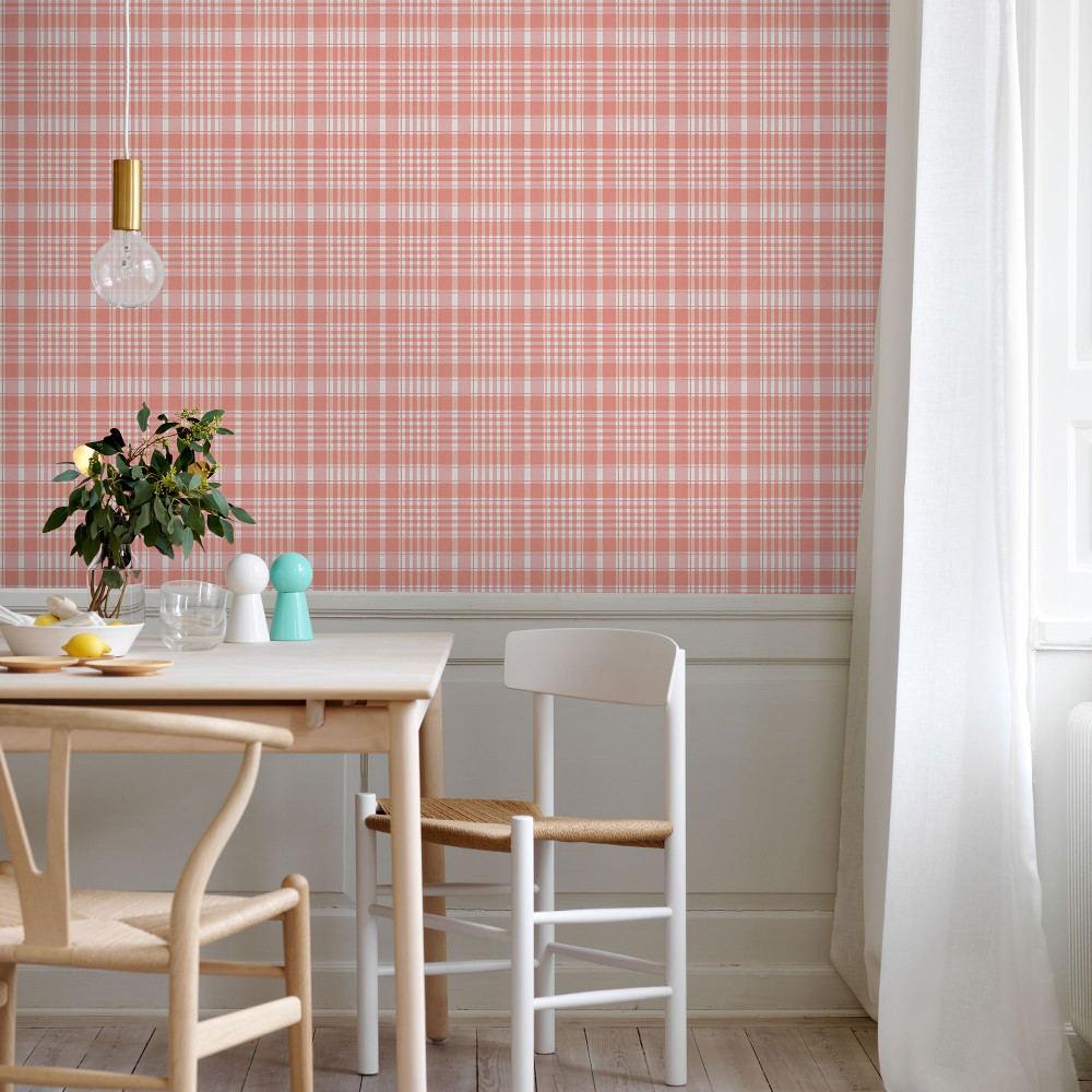 Tienda online telas papel papel cuadros clasicos rosa - Papeles pintados clasicos ...