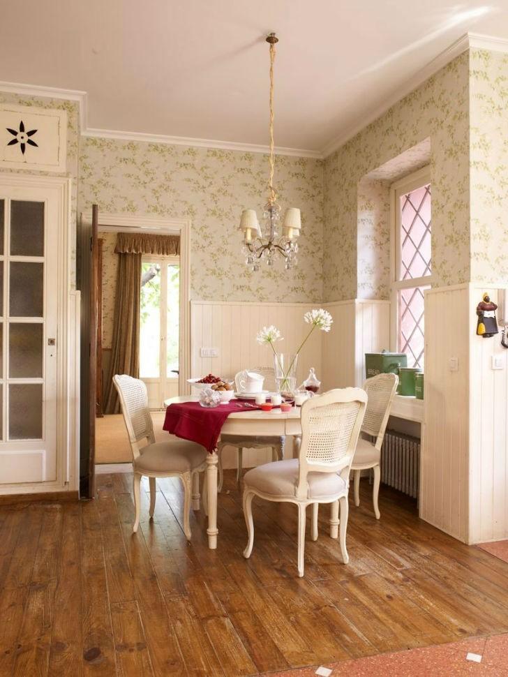 Tienda online telas papel dale un cambio a tu cocina for Comedor papel pintado