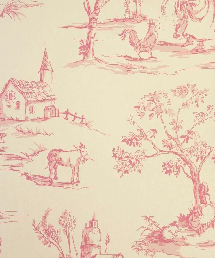 Tienda online telas papel papel pintado tolie de jouy - Papel pintado toile de jouy ...