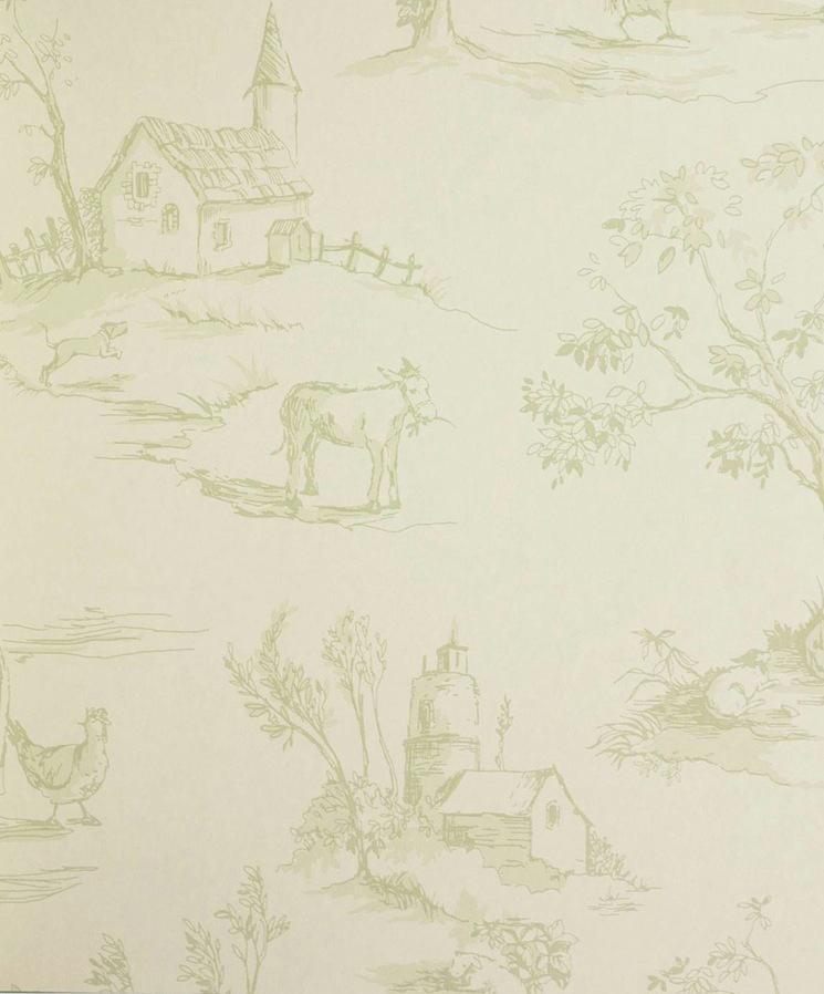 Tienda online telas papel papel pintado tolie de jouy for Papeles pintados ingleses
